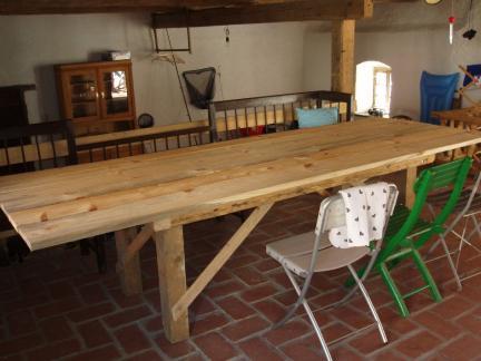 Tisch gebaut für Sommerküche