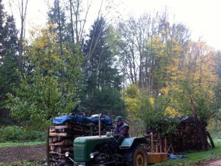 2012, Holz vor dem Acker