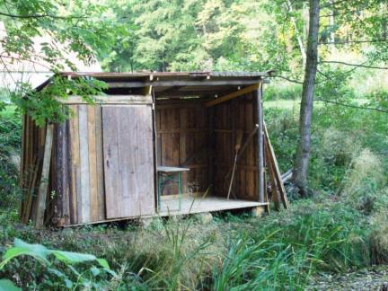 Fischerhütte gebaut