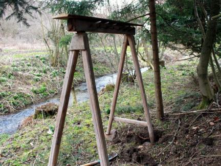 Am ehemaligen Sauschragen sollen die Stämme hängen