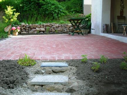 Terrasse im Juni