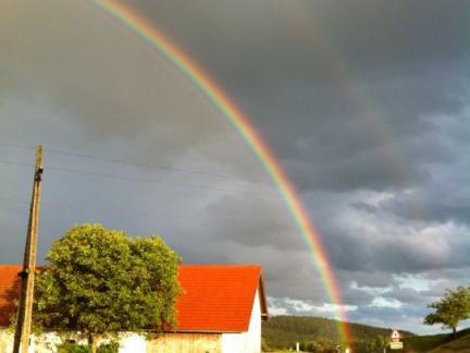 Regenbogen am Weg zum Staar