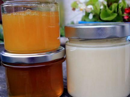 2015: 6 Stöcke ergeben 315kg Honig!!! Dreierlei Sorten