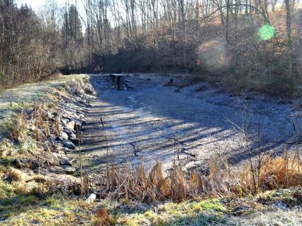 Der untere Teich ist seit Oktober (?) ausgelassen