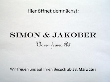 Ab 28.März 2011 gibt es Simon&Jakober!