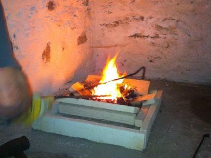 Erstes Feuer