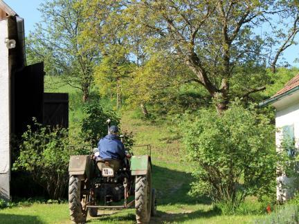 Traktor: nach kleineren Reparaturen wieder heimgebracht